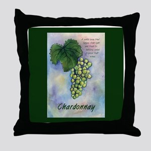 Chardonnay Wine Art Throw Pillow