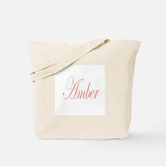 Cursive Amber Tote Bag