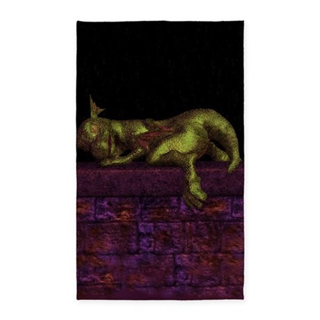 Let sleeping dragons lie 3'x5' Area Rug