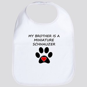 Miniature Schnauzer Brother Bib