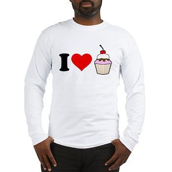 I Heart Cupcake Long Sleeve T-Shirt