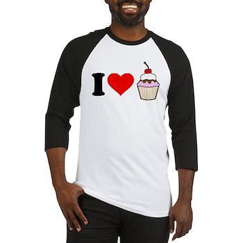 I Heart Cupcake Baseball Jersey