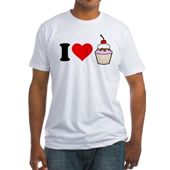 I Heart Cupcake Fitted T-Shirt