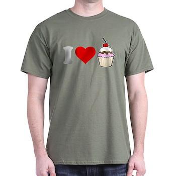 I Heart Cupcake Dark T-Shirt
