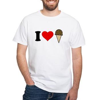 I Heart Ice Cream Cone White T-Shirt