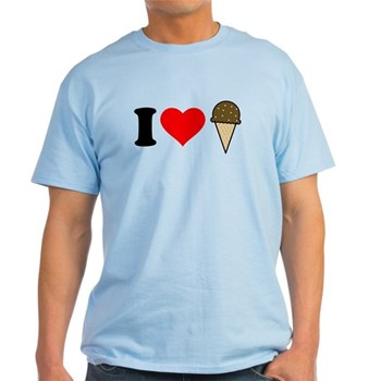 I Heart Ice Cream Cone Light T-Shirt