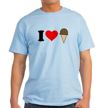I Heart Ice Cream Cone Light T-Shirt