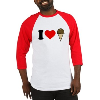 I Heart Ice Cream Cone Baseball Jersey