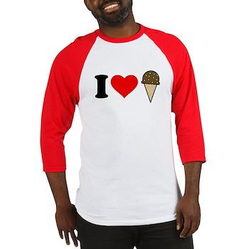 I Heart Ice Cream Cone Baseball Jersey