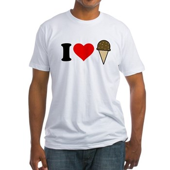 I Heart Ice Cream Cone Fitted T-Shirt