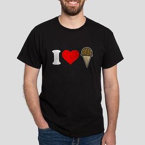 I Heart Ice Cream Cone Dark T-Shirt