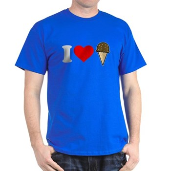 I Heart Ice Cream Cone Dark T-Shirt