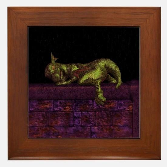 Let sleeping dragons lie Framed Tile