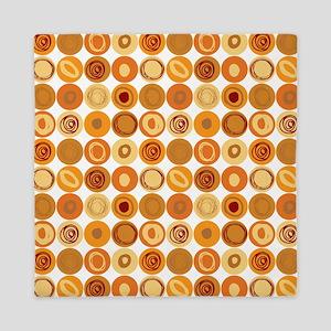 Gold Swirly Dot Pattern Queen Duvet