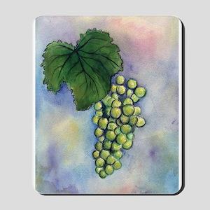 Green Grapes Wine Art Mousepad