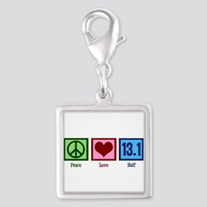Peace Love 13.1 Silver Square Charm