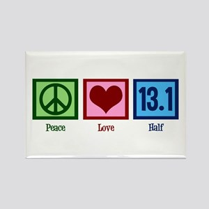 Peace Love 13.1 Rectangle Magnet