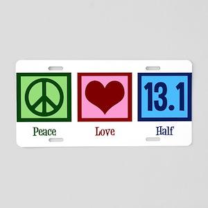 Peace Love 13.1 Aluminum License Plate