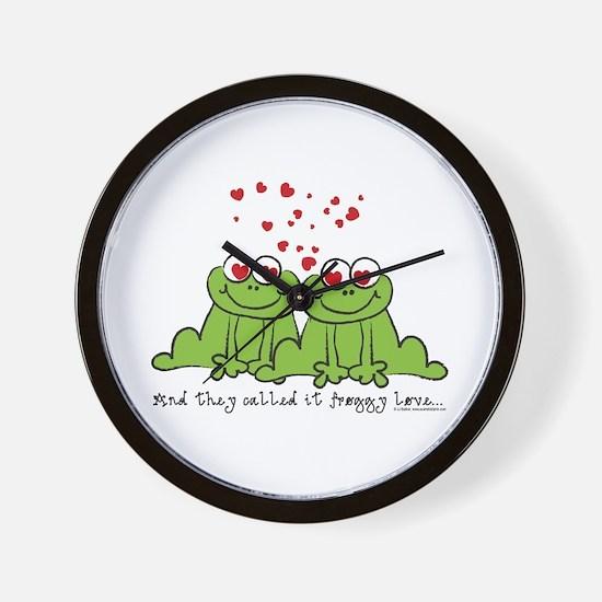 Froggy Love Wall Clock