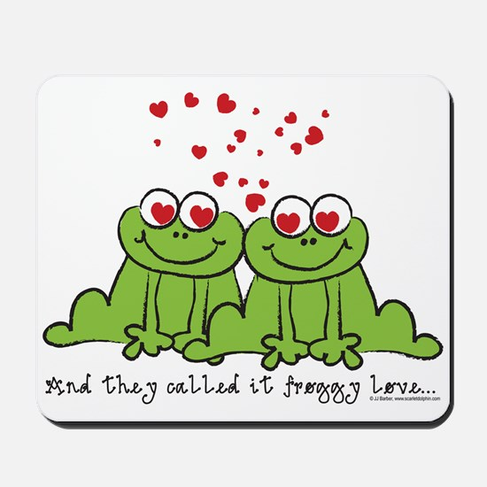 Froggy Love Mousepad