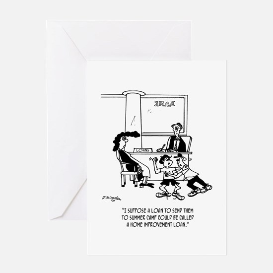 Summer Camp As Home Improvement Loan Greeting Card
