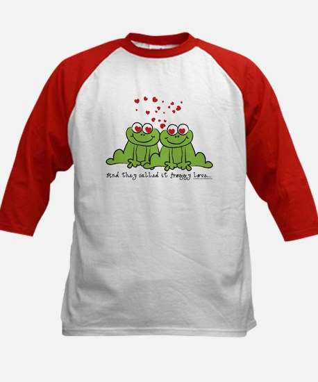 Froggy Love Kids Baseball Jersey