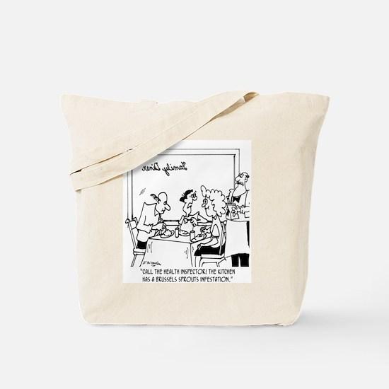 Brussel Sprout Infestation Tote Bag