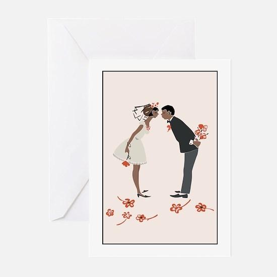 """Wedding Invitation"" (black) Greeting Cards (Packa"