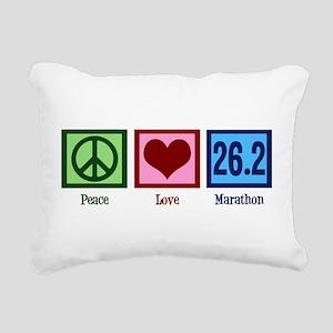 Peace Love 26.2 Rectangular Canvas Pillow