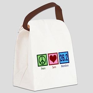 Peace Love 26.2 Canvas Lunch Bag