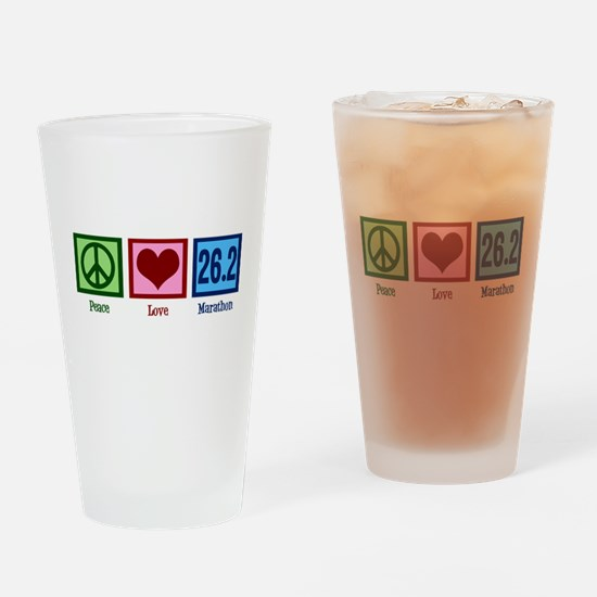 Peace Love 26.2 Drinking Glass