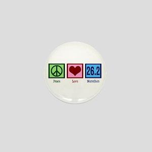 Peace Love 26.2 Mini Button