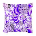 Violet Light Woven Throw Pillow