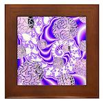 Violet Light Framed Tile