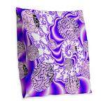 Violet Light Burlap Throw Pillow