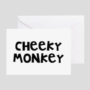 Cheeky monkey greeting cards cafepress cheeky monkey greeting card m4hsunfo
