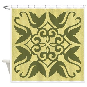 Olive Drab Shower Curtains
