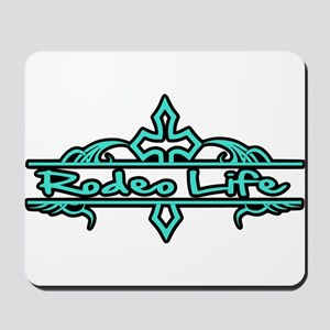 Rodeo Life-Turquoise Mousepad