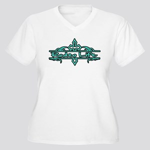 Rodeo Life-Turquoise Plus Size T-Shirt