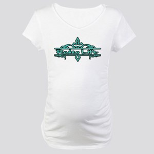Rodeo Life-Turquoise Maternity T-Shirt