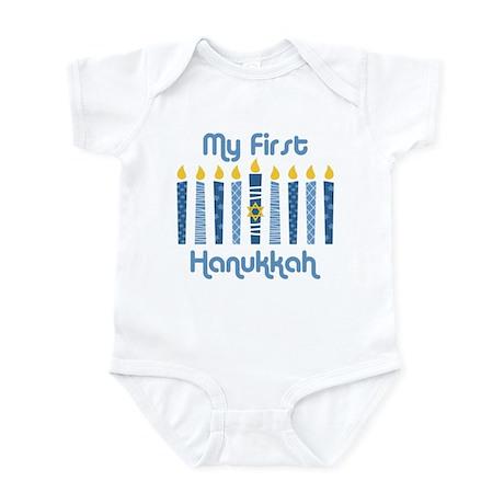 1st Hanukkah Candles Infant Bodysuit