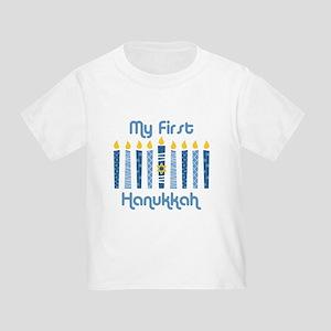 1st Hanukkah Candles Toddler T-Shirt