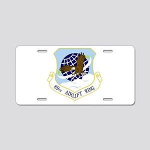 89th AW Aluminum License Plate