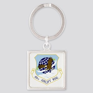 89th AW Square Keychain