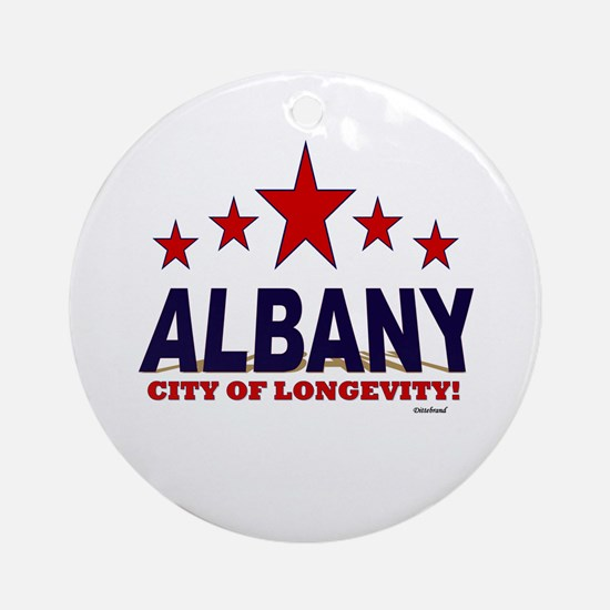 Albany City of Longevity Ornament (Round)