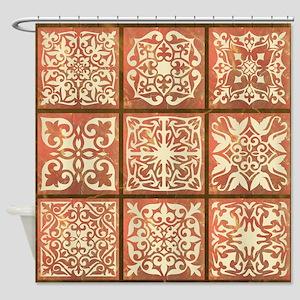 NINE PATCH Shower Curtain