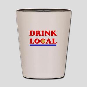 Drink Local Shot Glass