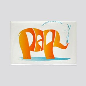 Paul orange elephant Rectangle Magnet
