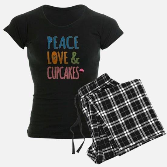 Peace Love and Cupcakes Pajamas