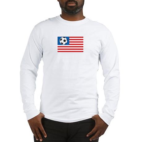 Soccer flag-America Long Sleeve T-Shirt